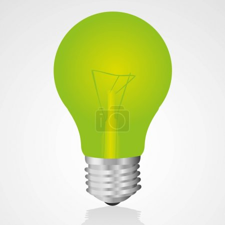 Illustration for Green light bulb Isolated on white background - Royalty Free Image