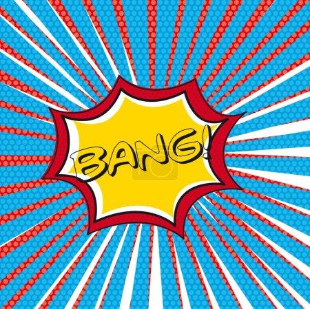 Illustration pour Bang dessinée sur fond de bulle de pensée. illustration vectorielle - image libre de droit