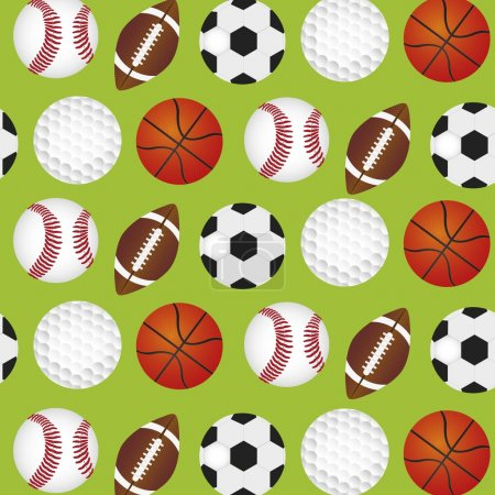 Sports balls background