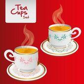 Květinové čajové šálky