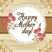 Happy mother´s day cute background vector illustration