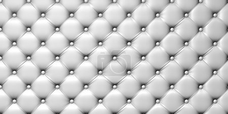 Photo for Illustration of white leather upholstery. 3d picture - Royalty Free Image