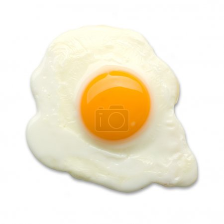 Photo for Fried egg isolated on a white background - Royalty Free Image