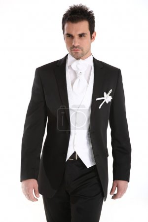 Photo for Handsome caucasian man in tuxedo - Royalty Free Image