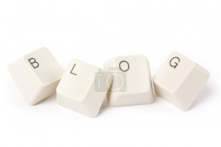 Photo for Blog and computer keyboard, internet Diary concept - Royalty Free Image