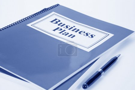 Photo for Business Plan and pen close up - Royalty Free Image