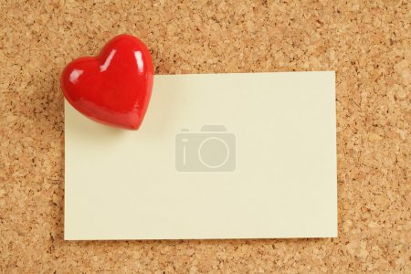 Red Heart and Note Pad