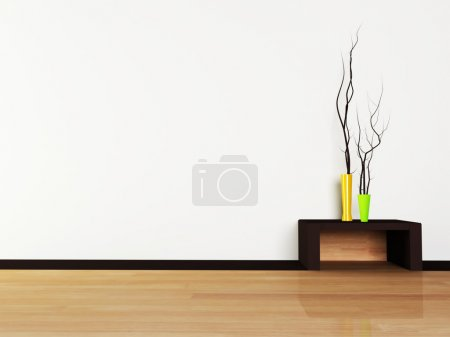 Photo for Interior design scene with a vases - Royalty Free Image