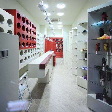 Interior of a modern boutique store