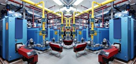 Interior of independent boiler room