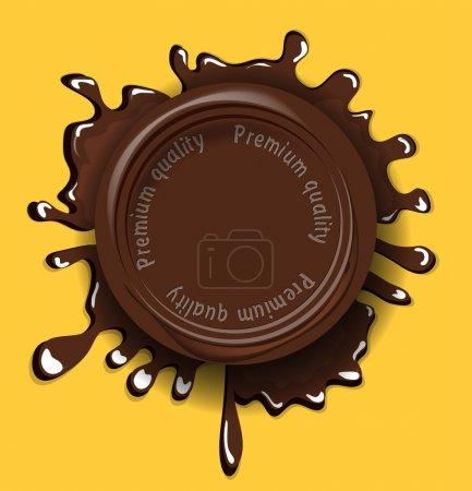 Illustration pour Fond sceau chocolat - image libre de droit