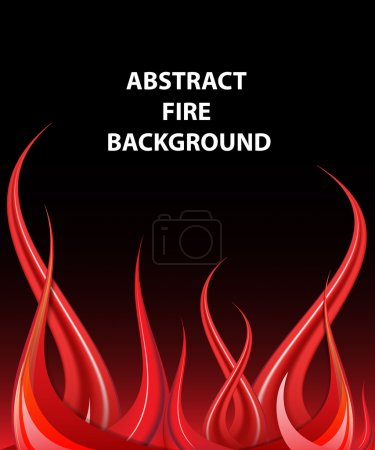 Illustration for Fire vector format - Royalty Free Image
