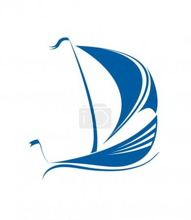 Sailing ship vector format