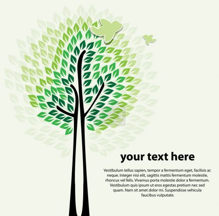 Stylized abstract tree vector