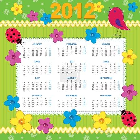 Calendar 2012 in scrapbook style
