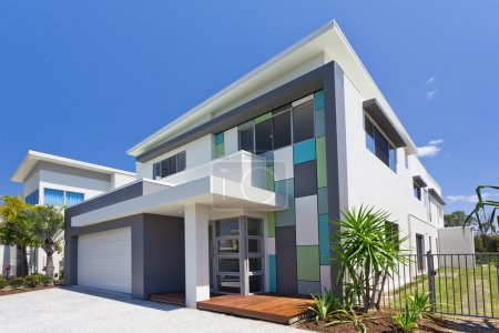 Photo for Modern architectural house front - Royalty Free Image