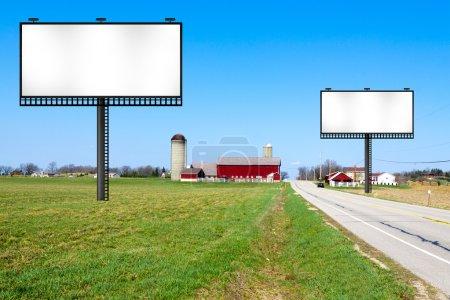 Photo for Big Metal Advertising Billboard Sign - Royalty Free Image