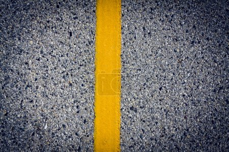 Photo for Asphalt Background with yellow stripe - Royalty Free Image