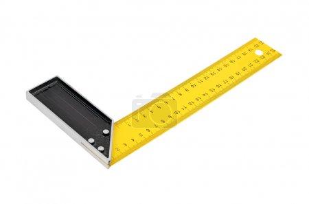 Iron ruler with angle bar