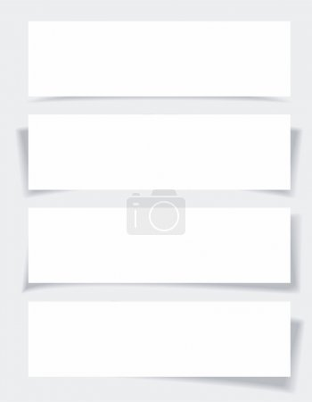 Illustration for Set of banners with different shadows. - Royalty Free Image