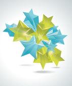 3d glass stars