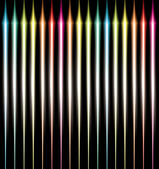 Abstract glowing lines of light with rainbow colors background