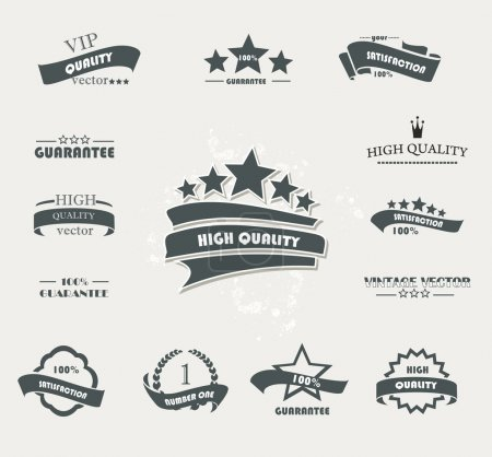 Set of vintage retro premium quality badges and labels