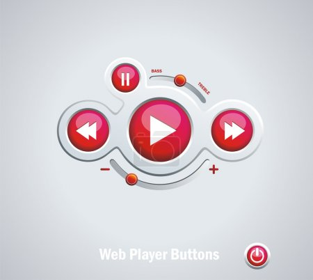 Light Web Elements: Buttons, Switchers, Player, Audio