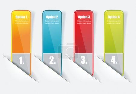 Illustration pour Modèles de bannières numérotées. - image libre de droit
