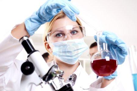 Chemist working in the laboratory