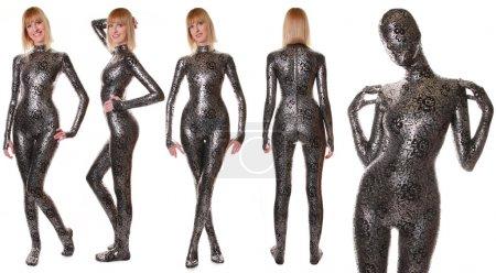 Glamorous Fashion Spandex Shiny Catsuit
