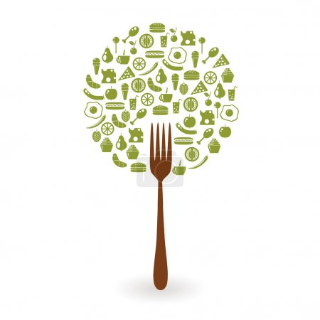 Illustration for Foods tree - Royalty Free Image