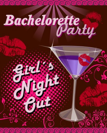 Illustration for bachelorette party