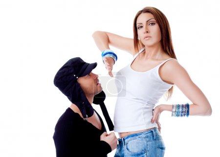 Woman rejecting man argument