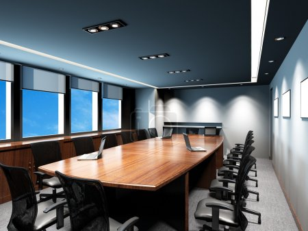 Photo for Business meeting room in office with modern decoration - Royalty Free Image