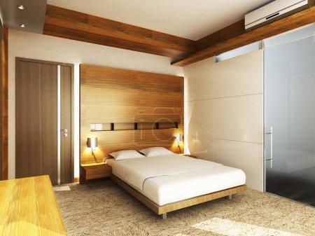 Photo pour Chambre moderne de résidences ou d'hôtels dans un style minimaliste - image libre de droit