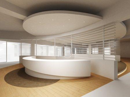 Photo pour Une aire de réception, dans un immeuble de bureaux. - image libre de droit