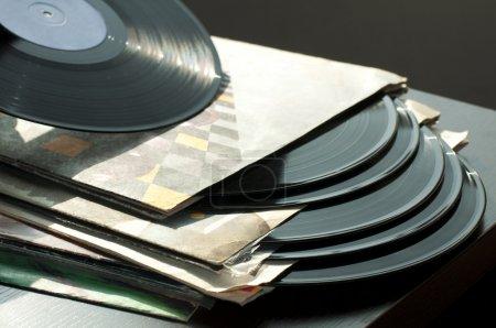 Photo pour LPs et couvertures. Lumière naturelle - image libre de droit