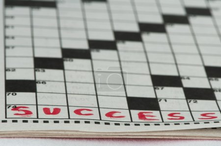 Success text in crossword