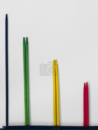 Stock trend of multicolored sticks