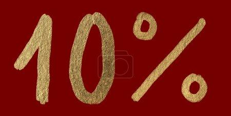 Ten percent discount shiny digits