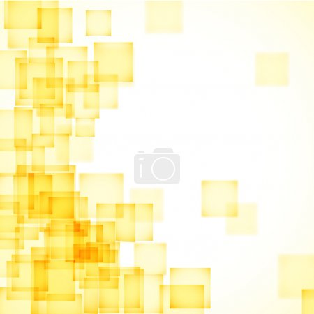 Illustration for Abstract yellow background with a lot of squares. Beautiful vector background. - Royalty Free Image