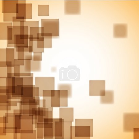 Illustration for Abstract brown background with a lot of squares. Beautiful vector background. - Royalty Free Image