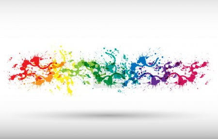 Illustration for Color paint splashes. Gradient vector background - Royalty Free Image