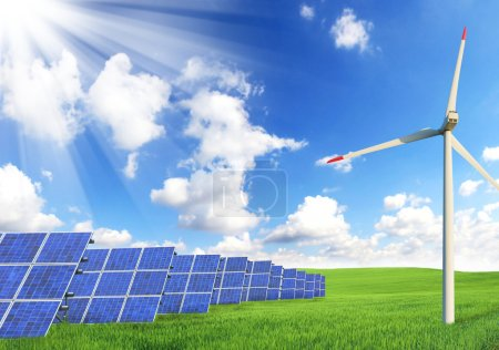 Concept of alternative energy resources...
