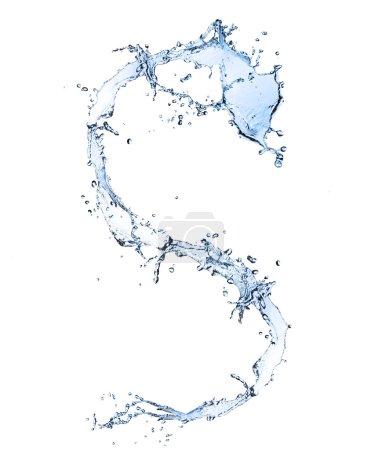 Photo pour Eau alphabet lettre s isolé sur fond blanc - image libre de droit