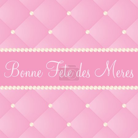 Illustration for French mother's day card in vector format. - Royalty Free Image