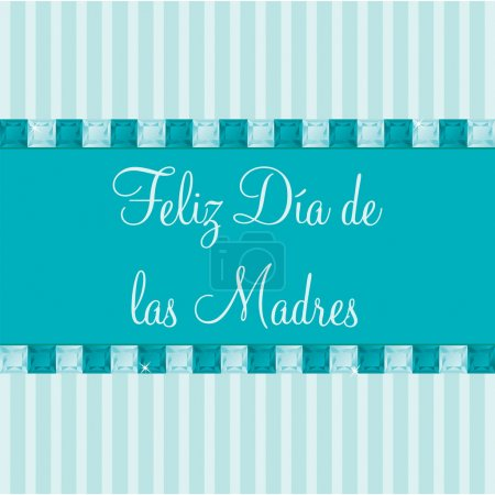 Illustration for Spanish Mother's Day card in vector format. - Royalty Free Image