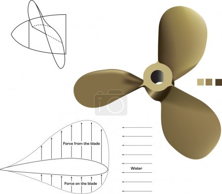 PropellerA vector propeller complete with technical drawings.