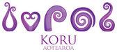 A set of glass Maori Koru curl ornaments